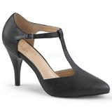 Svart Konstläder 10 cm DREAM-425 stora storlekar pumps skor