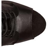 Svart Konstläder 18 cm ADORE-1021 dam stövletter med platåsula klack