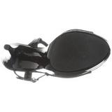 Svart Lack 13 cm COCKTAIL-509 Platå Högklackade Sandaler Skor