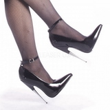 Svart Lack 15 cm SCREAM-12 Fetish Höga Pumps Skor