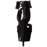 Svart Lack 16 cm Pleaser DELIGHT-670-3 Platå Högklackade Skor