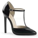 Svart Lackerade 13 cm SEXY-27 Dam Pumps Stilettskor