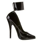 Svart Lackerade 15,5 cm DOMINA-434 Pumps skor för kvinnor