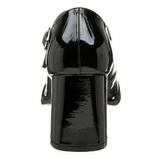 Svart Lackerade 8 cm GOGO-50 Hög Klackade Pumps för Män