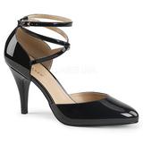 Svart Lackläder 10 cm DREAM-408 stora storlekar pumps skor