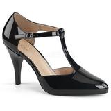 Svart Lackläder 10 cm DREAM-425 stora storlekar pumps skor