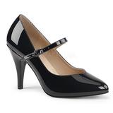 Svart Lackläder 10 cm DREAM-428 stora storlekar pumps skor