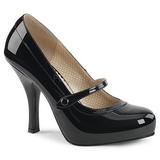Svart Lackläder 11,5 cm PINUP-01 stora storlekar pumps skor