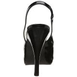 Svart Lackläder 12,5 cm EVE-04 stora storlekar sandaler dam