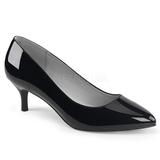Svart Lackläder 6,5 cm KITTEN-01 stora storlekar pumps skor