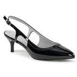 Svart Lackläder 6 cm KITTEN-02 stora storlekar pumps skor
