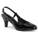 Svart Lackläder 7,5 cm DIVINE-418 stora storlekar pumps skor