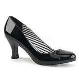Svart Lackläder 7,5 cm JENNA-01 stora storlekar pumps skor
