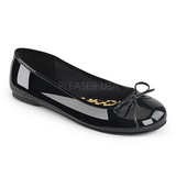 Svart Lackläder ANNA-01 stora storlekar ballerina skor