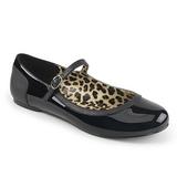 Svart Lackläder ANNA-02 stora storlekar ballerina skor