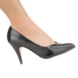 Svart Matt 10 cm DREAM-420 kvinna klackskor pumps klassiska