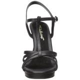 Svart Matt 12 cm FLAIR-420 Högklackade Dam Sandaletter