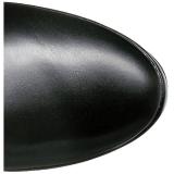 Svart Matt 13 cm ELECTRA-3050 Overknee Stövlar med Klackar