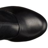Svart Matt 15,5 cm DELIGHT-3000 Overknee Stövlar med Klackar