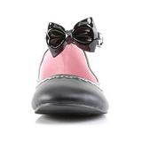 Svart Matt STAR-27 goth ballerinaskor med platta klack