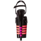 Svart Neon 20 cm FLAMINGO-809UVLN Platå Högklackade Skor