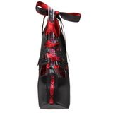 Svart Röd 14,5 cm Burlesque TEEZE-13 damskor med hög klack