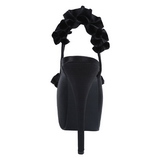 Svart Satin 14,5 cm Burlesque TEEZE-56 Platå Högklackade Sandaler Skor
