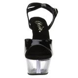 Svart Transparent 15 cm Pleaser KISS-209 Höga sandaletter med klack