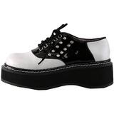 Svart Vit 5 cm EMILY-303 lolita skor goth platåskor tjock sula