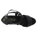 Svart elastiskt band 15 cm DELIGHT-669 pleaser skor med hög klack