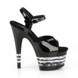Svarta high heels 18 cm ADORE-709LNRS platå high heels