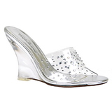 Transparent 10,5 cm LOVELY-401RS Wedge Mules med Kilklackar