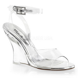 Transparent 10,5 cm LOVELY-406 Wedge Sandaletter med Kilklack
