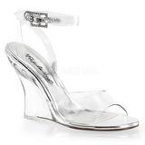 Transparent 10,5 cm LOVELY-406 Women Wedge Sandals