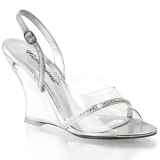 Transparent 10,5 cm LOVELY-456 Wedge Sandaletter med Kilklack