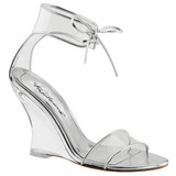 Transparent 10,5 cm LOVELY-460 Wedge Sandaletter med Kilklack