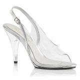 Transparent 10 cm CARESS-450 High Heeled Evening Sandals