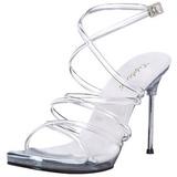 Transparent 11,5 cm CHIC-07 Högklackade skor med stilettklack