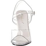 Transparent 11,5 cm CHIC-08DM Fest sandaler med strass stenar