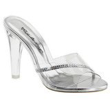 Transparent 11,5 cm CLEARLY-401R Plateau Women Mules Shoes