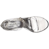 Transparent 11,5 cm CLEARLY-430 Höga Fest Sandaler med Klack
