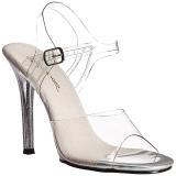 Transparent 11,5 cm GALA-08MG Högklackade skor med stilettklack
