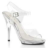 Transparent 12,5 cm POISE-508 high heeled sandals