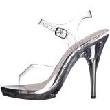 Transparent 12,5 cm POISE-508 högklackade sandaletter