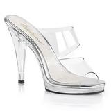 Transparent 12 cm FLAIR-402 High Women Mules Shoes for Men