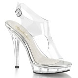 Transparent 13 cm LIP-107 Womens Shoes with High Heels