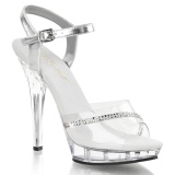 Transparent 13 cm LIP-108R Bikini posing high heel shoes fabulicious
