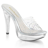 Transparent 14 cm COCKTAIL-501SD Platform Mules Shoes