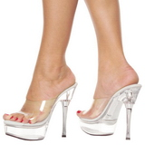 Transparent 14 cm Pleaser ALLURE-601 Mules High Heels Platform
