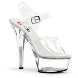 Transparent 15 cm BROOK-208 Womens Shoes with High Heels